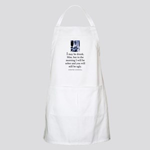 May be drunk BBQ Apron