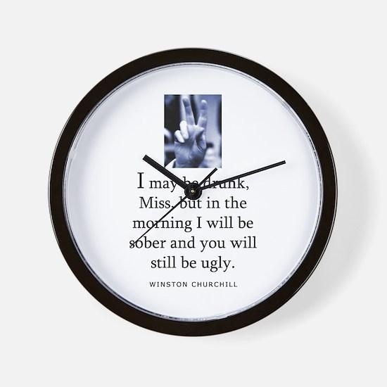 May be drunk Wall Clock