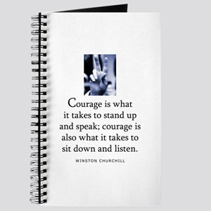 Takes courage Journal