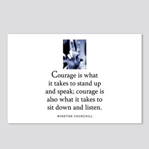 Takes courage Postcards (Package of 8)