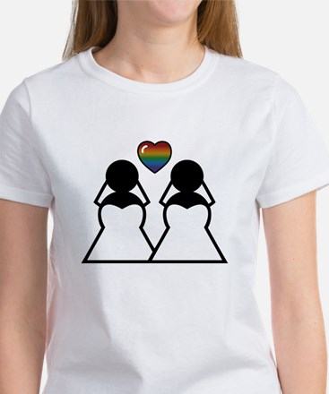 Silhouette Bride and Bride T-Shirt