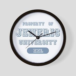 Property of Jeneric University Wall Clock