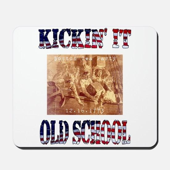 Kickin' It Old School - Tea P Mousepad