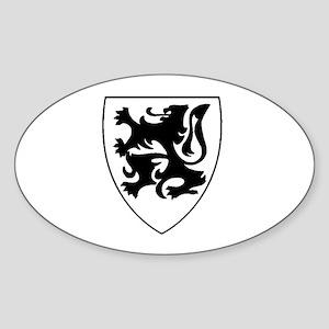 Vlaamse Leeuw Oval Sticker