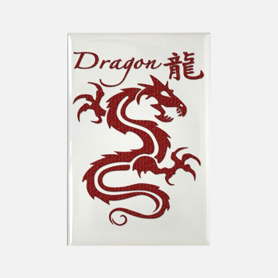 Red Dragon Rectangle Magnet