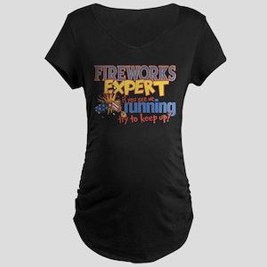Fireworks Expert Maternity Dark T-Shirt