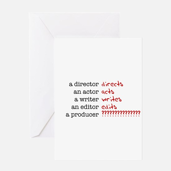 Film & TV Producer Greeting Card