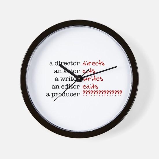 Film & TV Producer Wall Clock