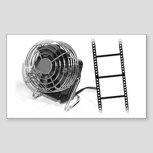 Fan Film Rectangle Sticker
