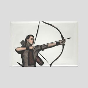 Elf Archer Rectangle Magnet