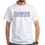 LIBERAL IDIOTS White T-Shirt