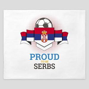 Football Serbs Serbia Soccer Team Sport King Duvet