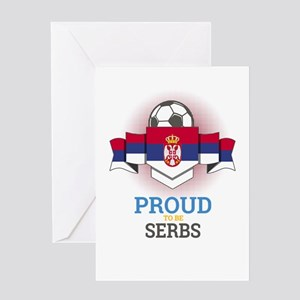 Football Serbs Serbia Soccer Team S Greeting Cards