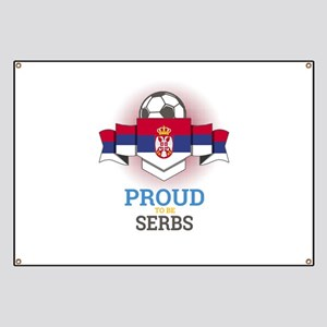 Football Serbs Serbia Soccer Team Sports Fo Banner