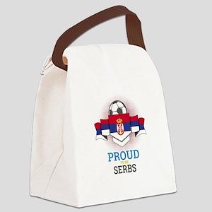 Football Serbs Serbia Soccer Team Canvas Lunch Bag