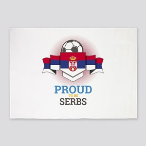 Football Serbs Serbia Soccer Team S 5'x7'Area Rug