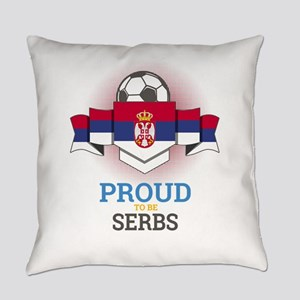 Football Serbs Serbia Soccer Team Everyday Pillow