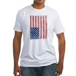 Vintage American Flag Fitted T-Shirt