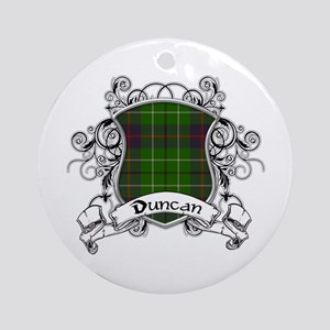 Duncan Tartan Shield Ornament (Round)