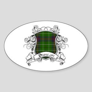 Duncan Tartan Shield Sticker (Oval)