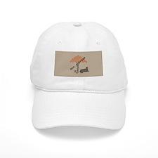 Funny On a Break Cat Umbrella Beach Baseball Cap