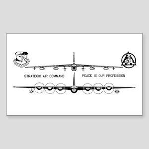 6th Bomb Wing Sticker (Rectangle 50 pk)