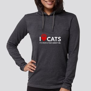 I love Cats, It's People That Long Sleeve T-Shirt