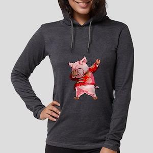 Dabbing Pig Chinese New Year Long Sleeve T-Shirt
