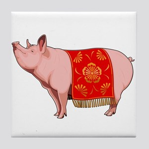 Chinese New Year Pig Tile Coaster