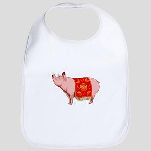 Chinese New Year Pig Baby Bib