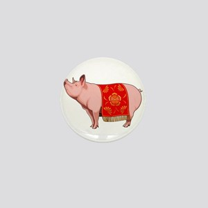 Chinese New Year Pig Mini Button