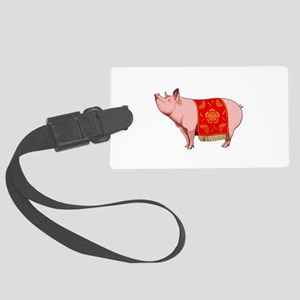 Chinese New Year Pig Large Luggage Tag
