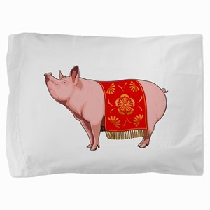 Chinese New Year Pig Pillow Sham