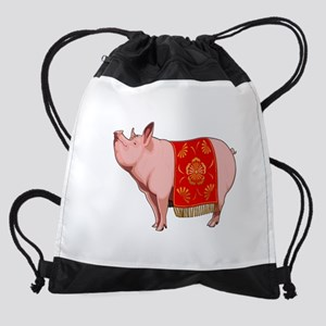 Chinese New Year Pig Drawstring Bag