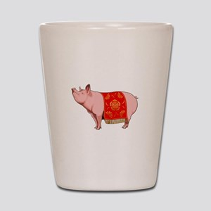 Chinese New Year Pig Shot Glass