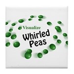 Visualize Whirled Peas Tile Coaster