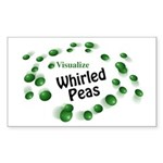 Visualize Whirled Peas Rectangle Sticker 10 pk)