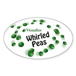 Visualize Whirled Peas Oval Sticker (10 pk)