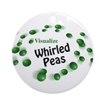 Visualize Whirled Peas Ornament (Round)
