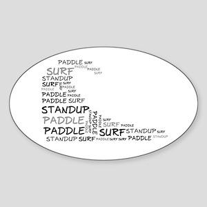 Wordup Wave White Oval Sticker