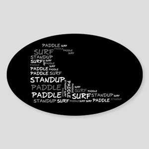 Wordup Wave Black Oval Sticker