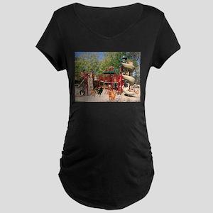Dog Park Maternity Dark T-Shirt