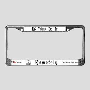 Remotely License Plate Frame