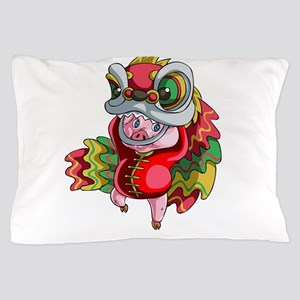 Chinese Dragon Pig Pillow Case