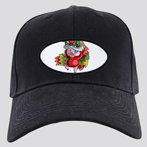 Chinese Dragon Pig Black Cap with Patch