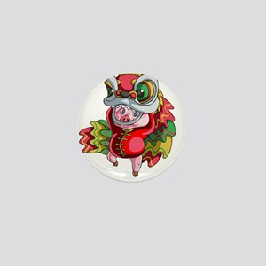 Chinese Dragon Pig Mini Button
