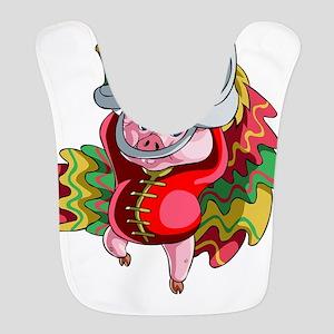 Chinese Dragon Pig Polyester Baby Bib