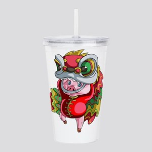 Chinese Dragon Pig Acrylic Double-wall Tumbler