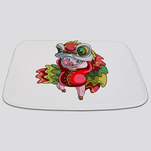 Chinese Dragon Pig Bathmat