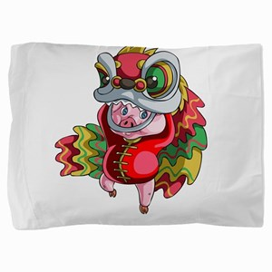 Chinese Dragon Pig Pillow Sham